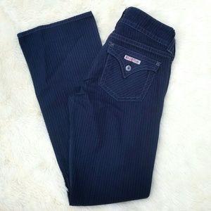 Hudson Signature Boot cut pinstripe jeans 30